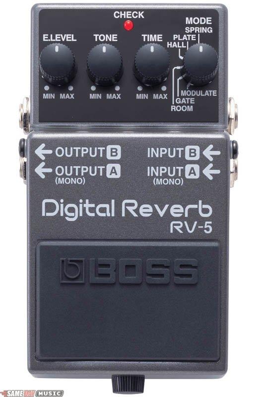 Gear Review Boss Rv 5 Digital Reverb Guitar Gear