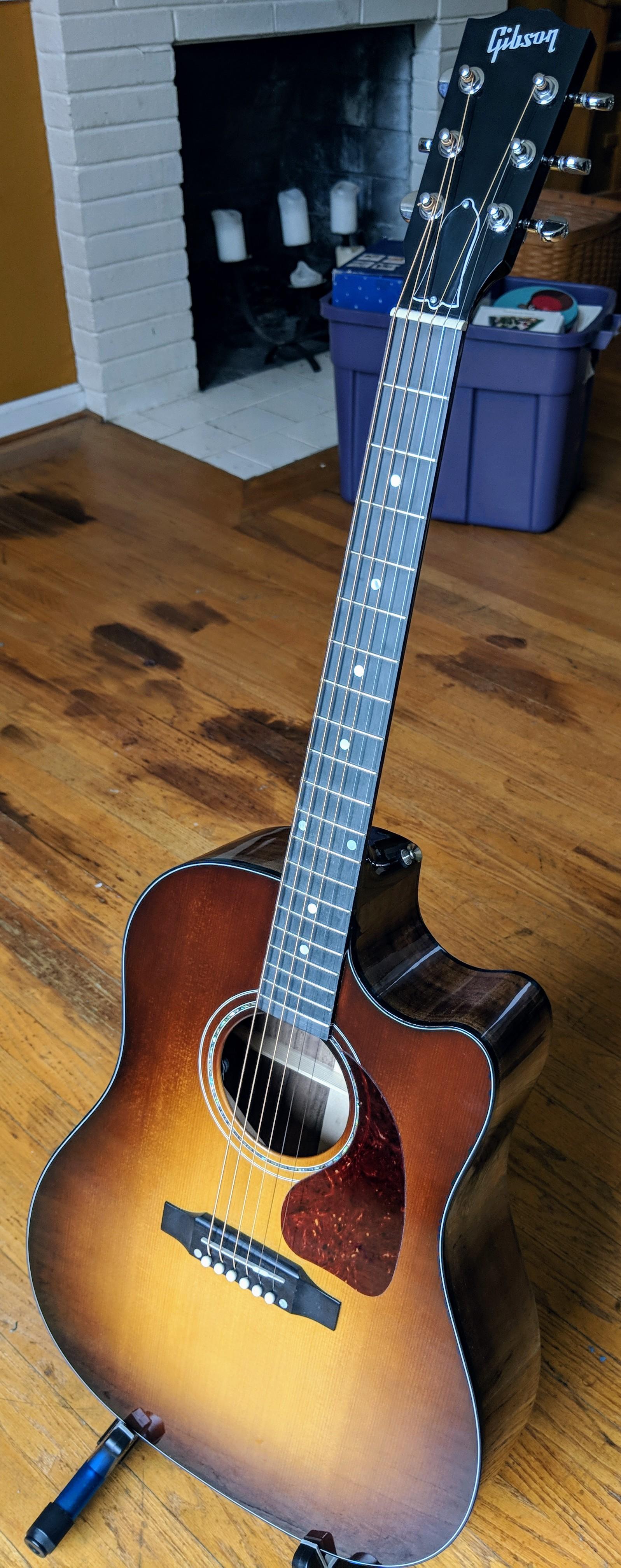 Gibson J-45 Studio Walnut Burst Bright Luster Musical Instruments & Gear Guitars & Basses